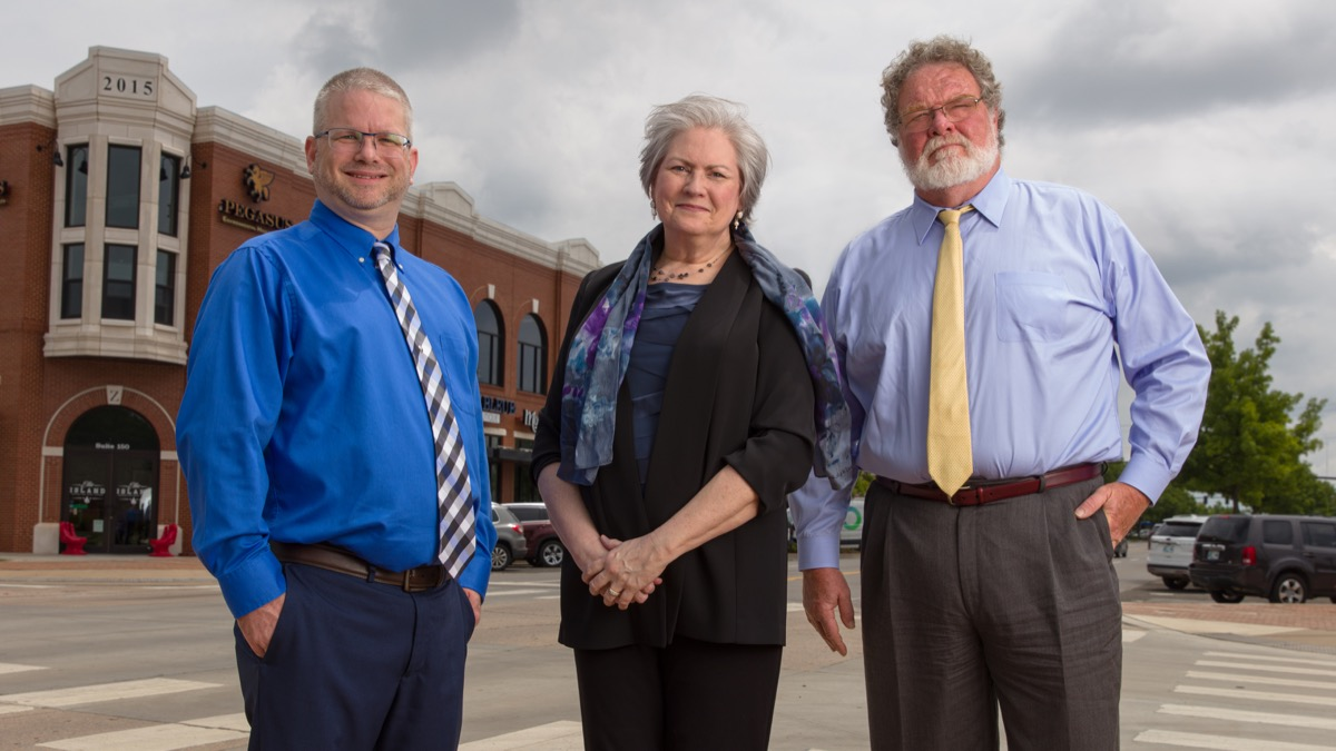 Edmond residents Scott Brown, Vice President of Data Managment, Diane Surtees, Director of Stratigic Communications, and Mark Becker, Vice President of Operations with Galvanic Energy based in Oklahoma City, OK.