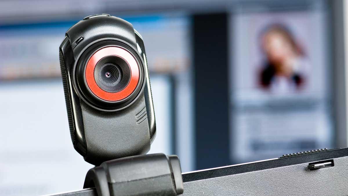 Webcam-on-laptop