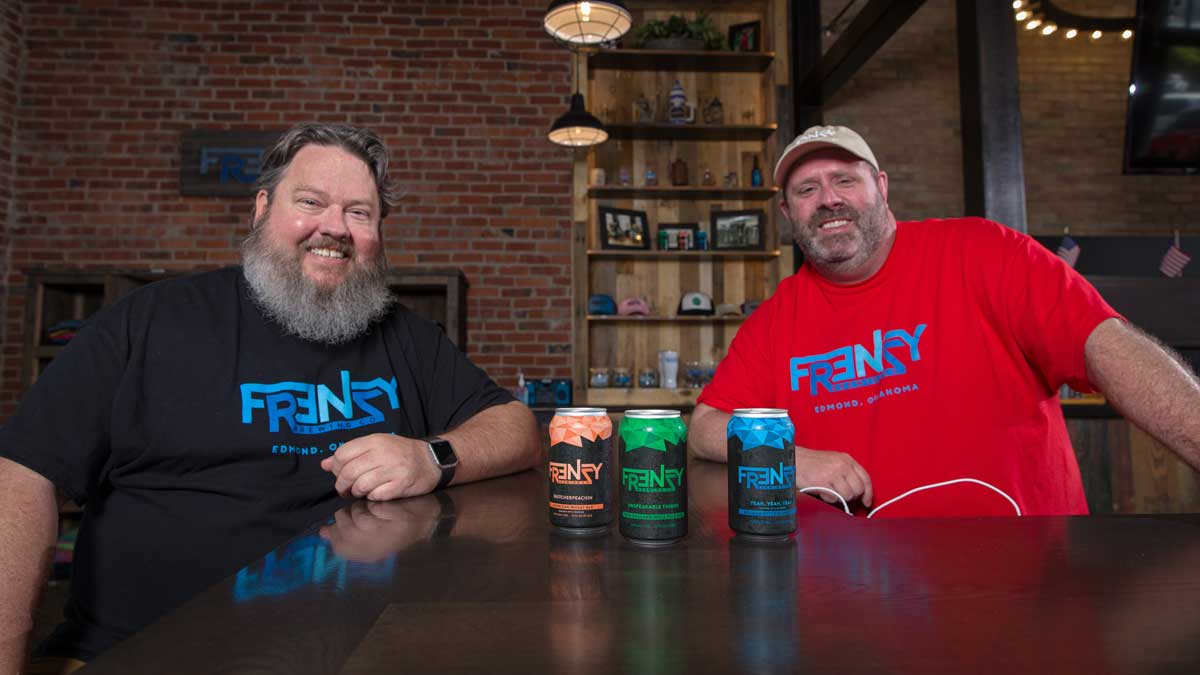 "Matt Conner and Jeremy Estle, co-owners of Frenzy Brewing Company, are constantly brewing (Photo: <a href=""https://edmondbusiness.com/author/brent-fuchs/"">Brent Fuchs</a>)"