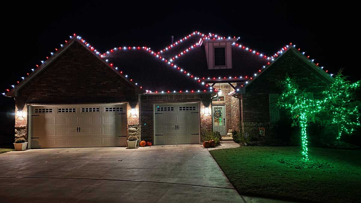 Christmas lights on a house in Edmond hung by Christmas Lights Spirit (Photo provided)