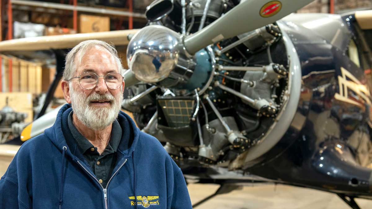 "Steve Curry, owner of Radial Engines Ltd. in Edmond (Photo: <a href=""https://edmondbusiness.com/author/thomas-berger/"">Thomas Berger</a>)"