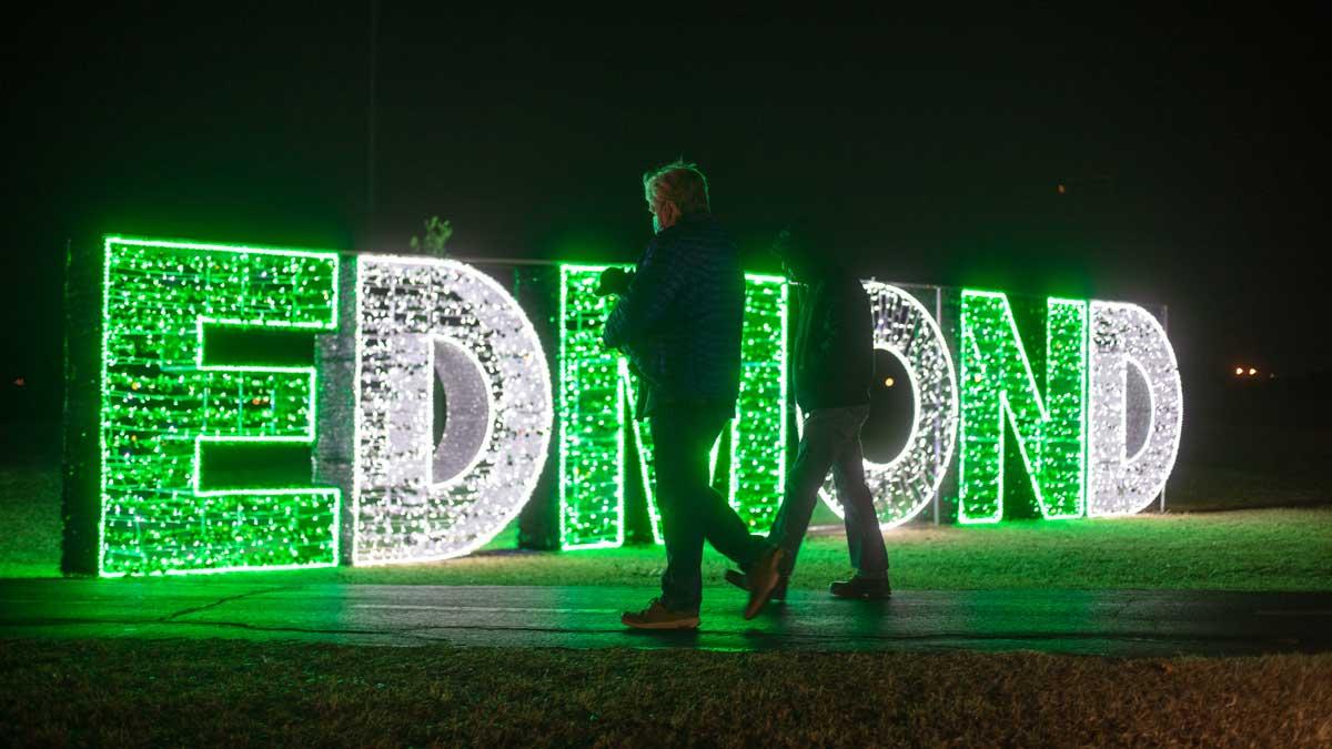 "The Edmond light display at Luminance (Photo: <a href=""https://edmondbusiness.com/author/brent-fuchs/"">Brent Fuchs</a>)"
