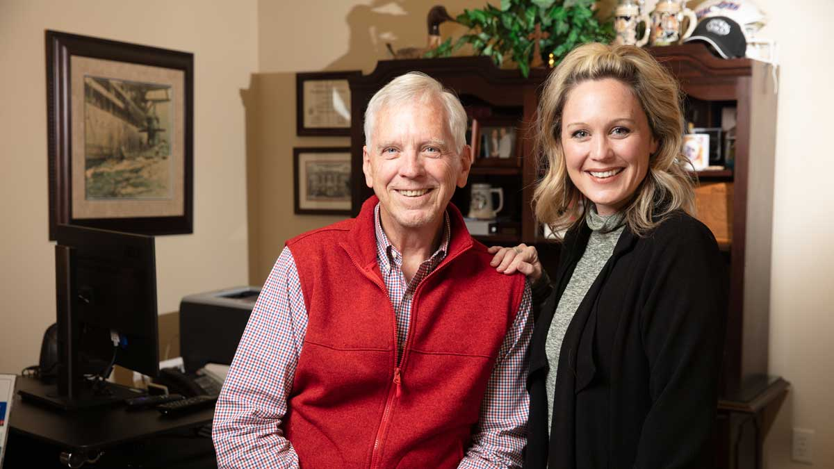 "Joe White and Danielle Hill with Shelter Insurance (Photo: <a href=""https://edmondbusiness.com/author/brent-fuchs/"">Brent Fuchs</a>)"