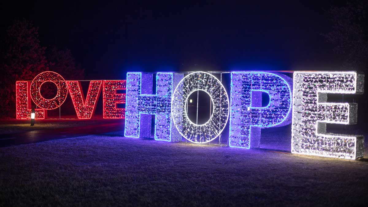 Love and Hope lights