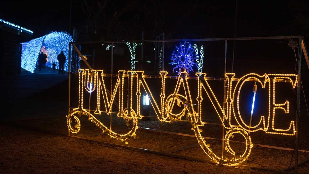 "The Luminance light display at Edmond Electric's Luminance: An Enchanted Stroll (Photo: <a href=""https://edmondbusiness.com/author/brent-fuchs/"">Brent Fuchs</a>)"