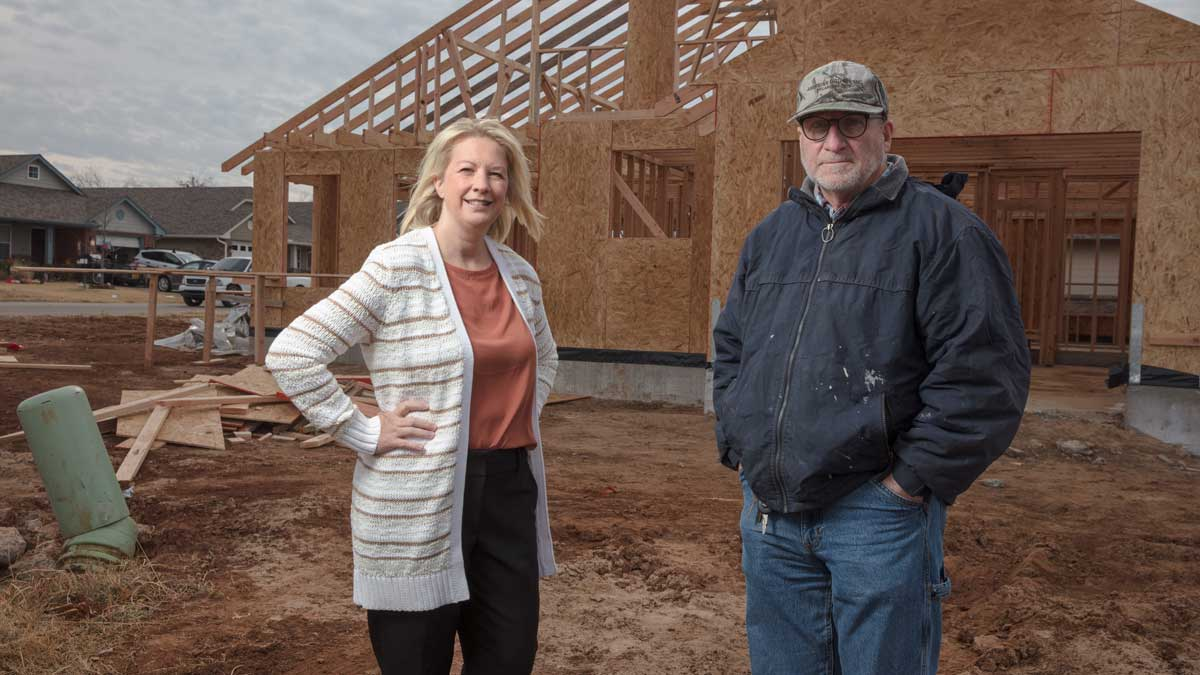 "Michelle Gregory, Executive Director of Turning Point Ministries and Scot Bertrem, Construction Superintendent (Photo: <a href=""https://edmondbusiness.com/author/brent-fuchs/"">Brent Fuchs</a>)"