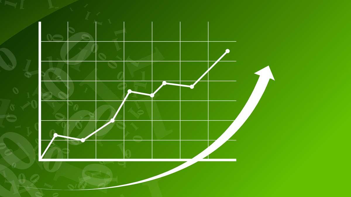 Green graph increasing