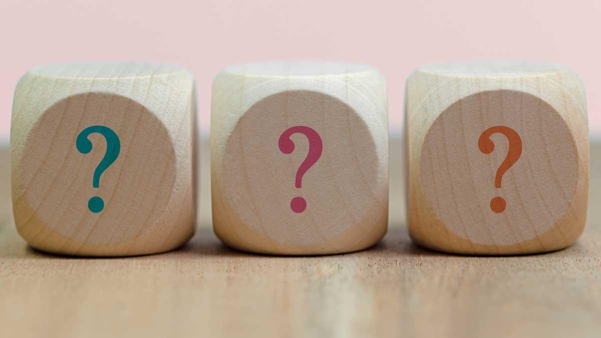 Three question blocks