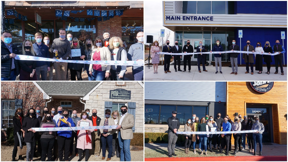 December and January ribbon cutting collage