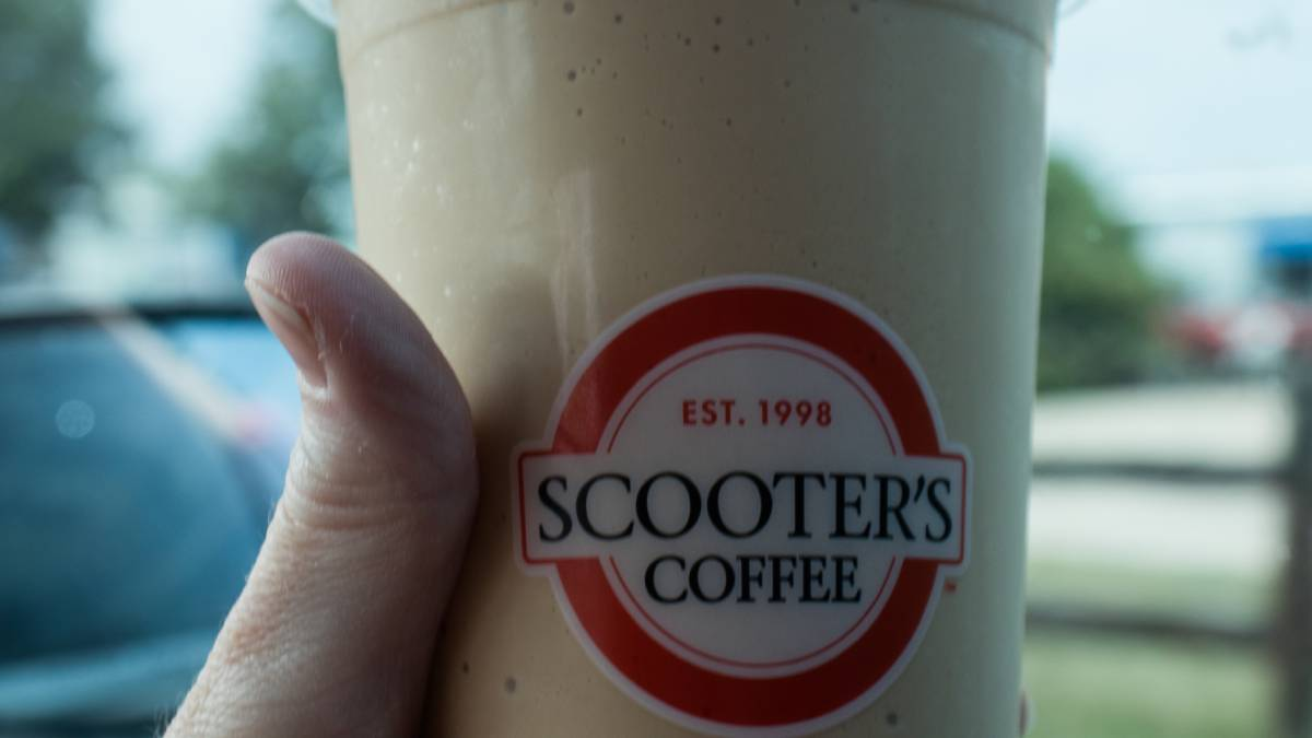 Scooters coffee cup