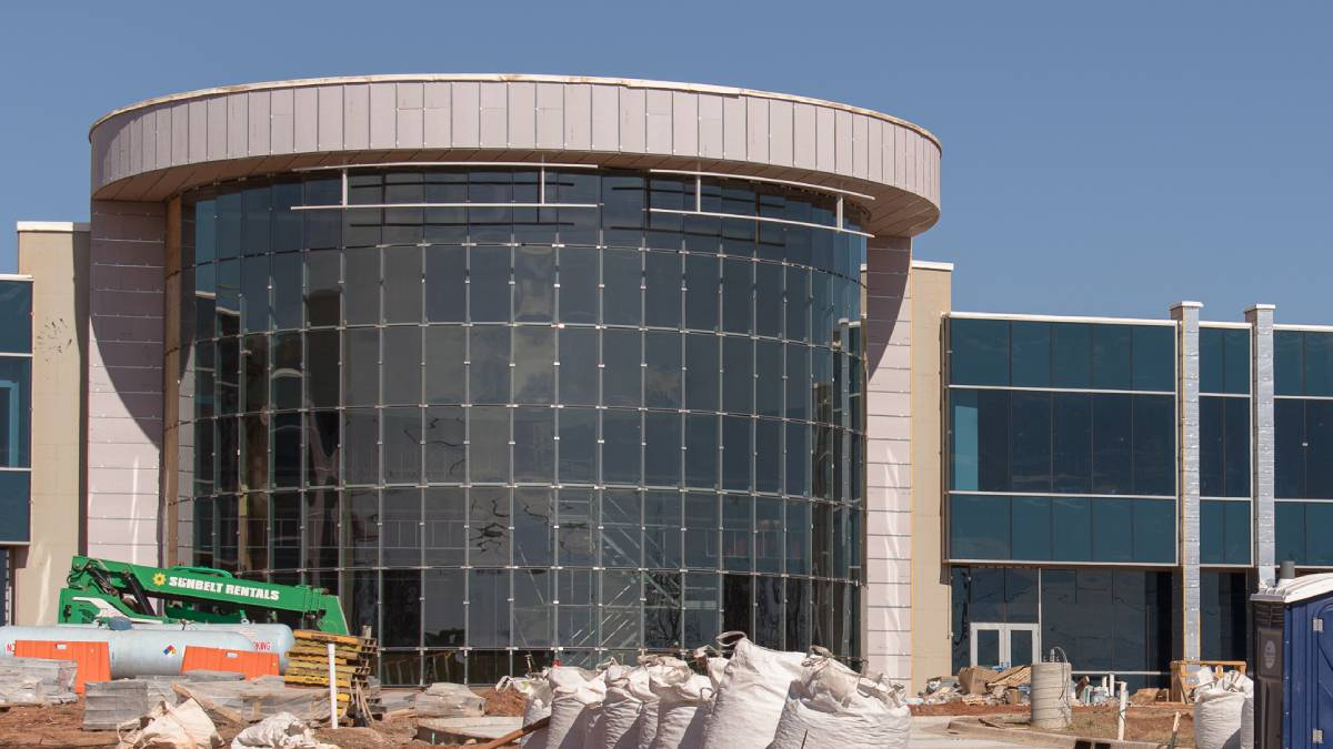 "The Francis Tuttle Danforth campus, under construction in February 2021 (Photo: <a href=""https://edmondbusiness.com/author/brent-fuchs/"">Brent Fuchs</a>)"