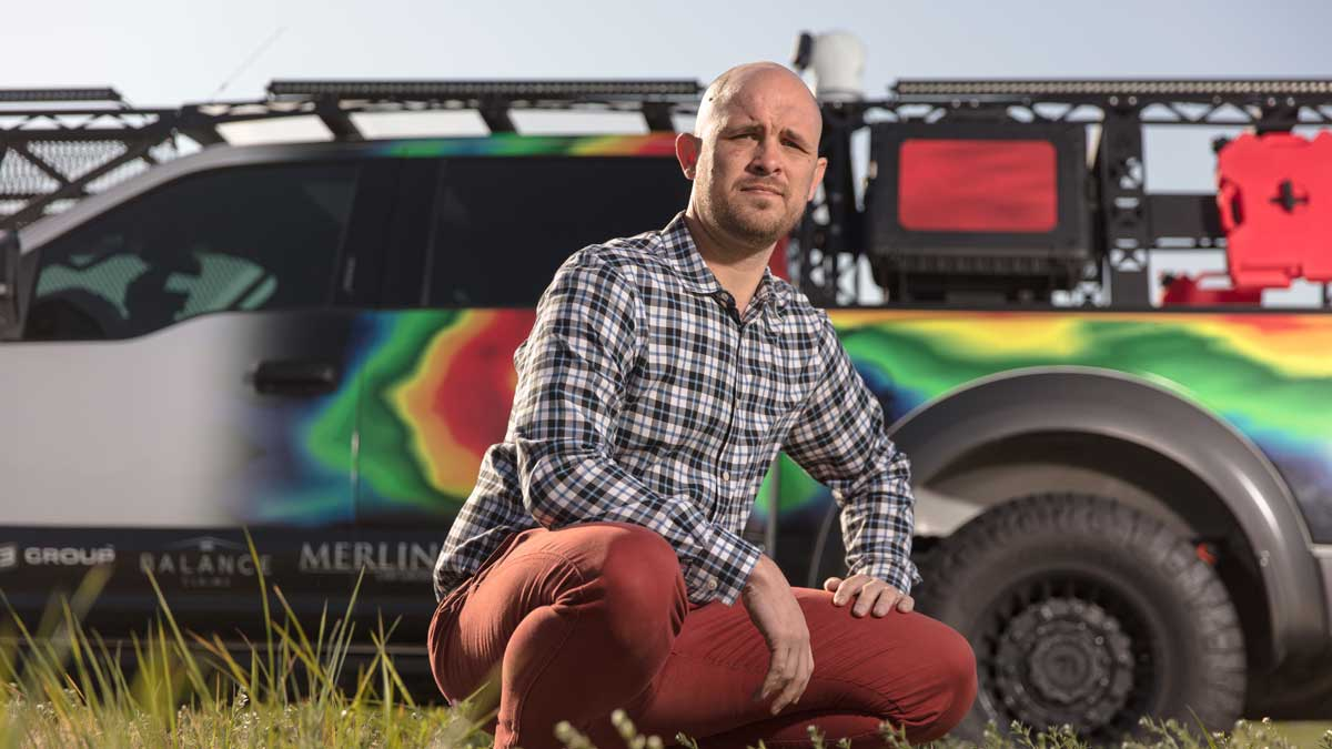 "Derik Kline, CEO of HailTrace in Edmond (Photo: <a href=""https://edmondbusiness.com/author/brent-fuchs/"">Brent Fuchs</a>)"