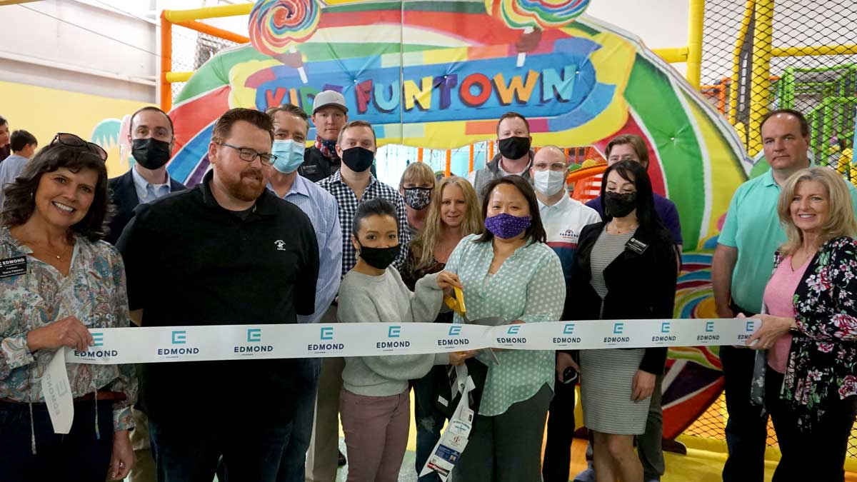 """<a href=""""https://kidzfuntown.com/"""">Kidz Funtown</a> – March 9. Celebrating one year of business in Edmond. (Photo: <a href=""""https://www.edmondchamber.com/"""">Edmond Chamber of Commerce</a>)"""