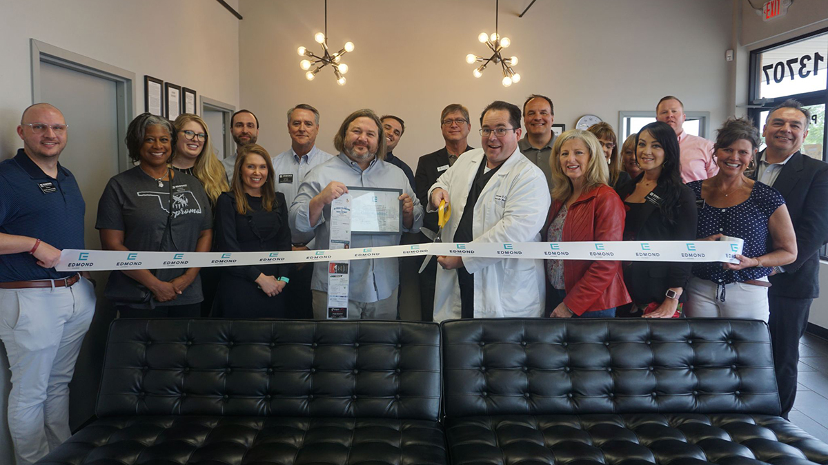 """<a href=""""https://drjamestcail.com/"""">Dr. James T Cail, DO</a> - April 27. Launch of family health services with Team Pathways. (Photo: <a href=""""https://www.edmondchamber.com/"""">Edmond Chamber of Commerce</a>)"""