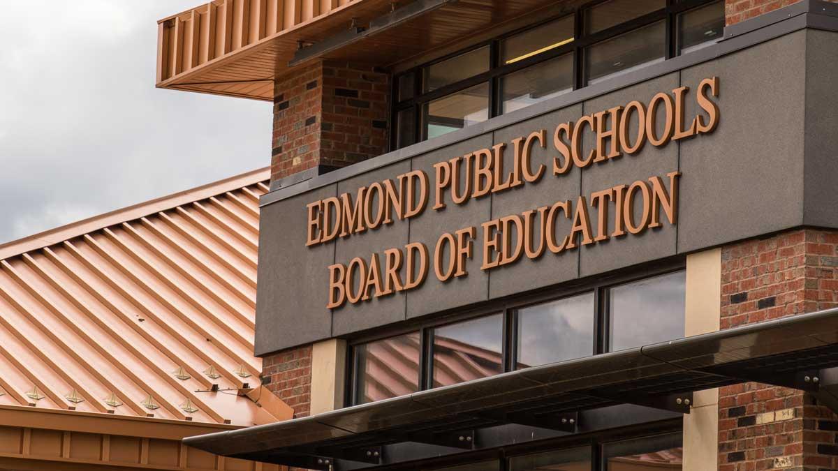 "The sign on the Edmond Public Schools Board building (Photo: <a href=""https://edmondbusiness.com/author/brent-fuchs/"">Brent Fuchs</a>)"