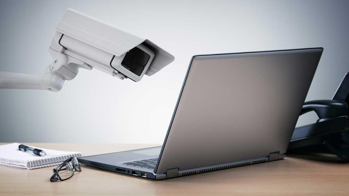 Monitoring an employee's laptop