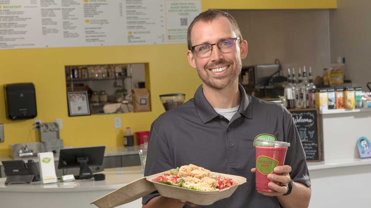"Cody Pepper, CEO of Health Nut Cafe in Edmond (Photo: <a href=""https://edmondbusiness.com/author/brent-fuchs/"">Brent Fuchs</a>)"