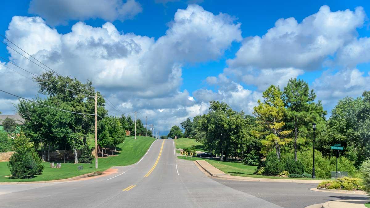 Coffee Creek Road in Edmond