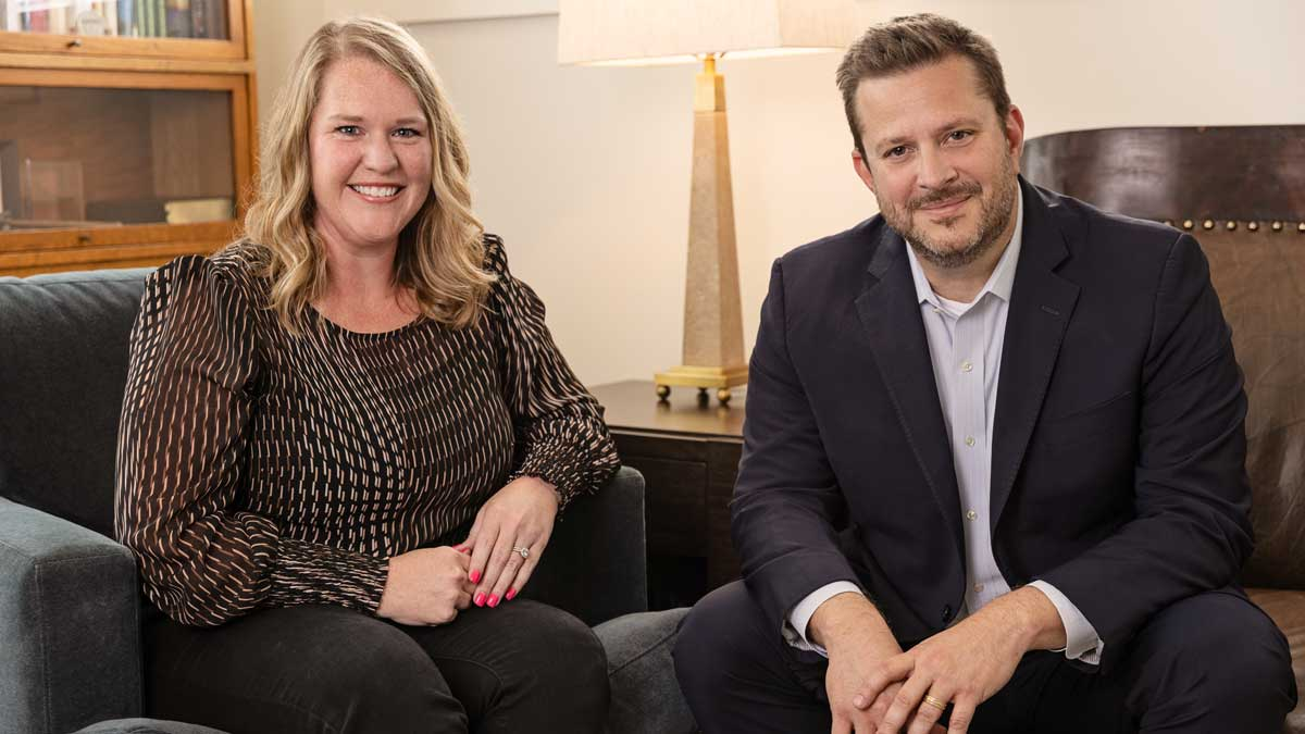 Piper Riggs and Nathan Mellor with The Harding Center for Organizational Leadership (Photo Provided)