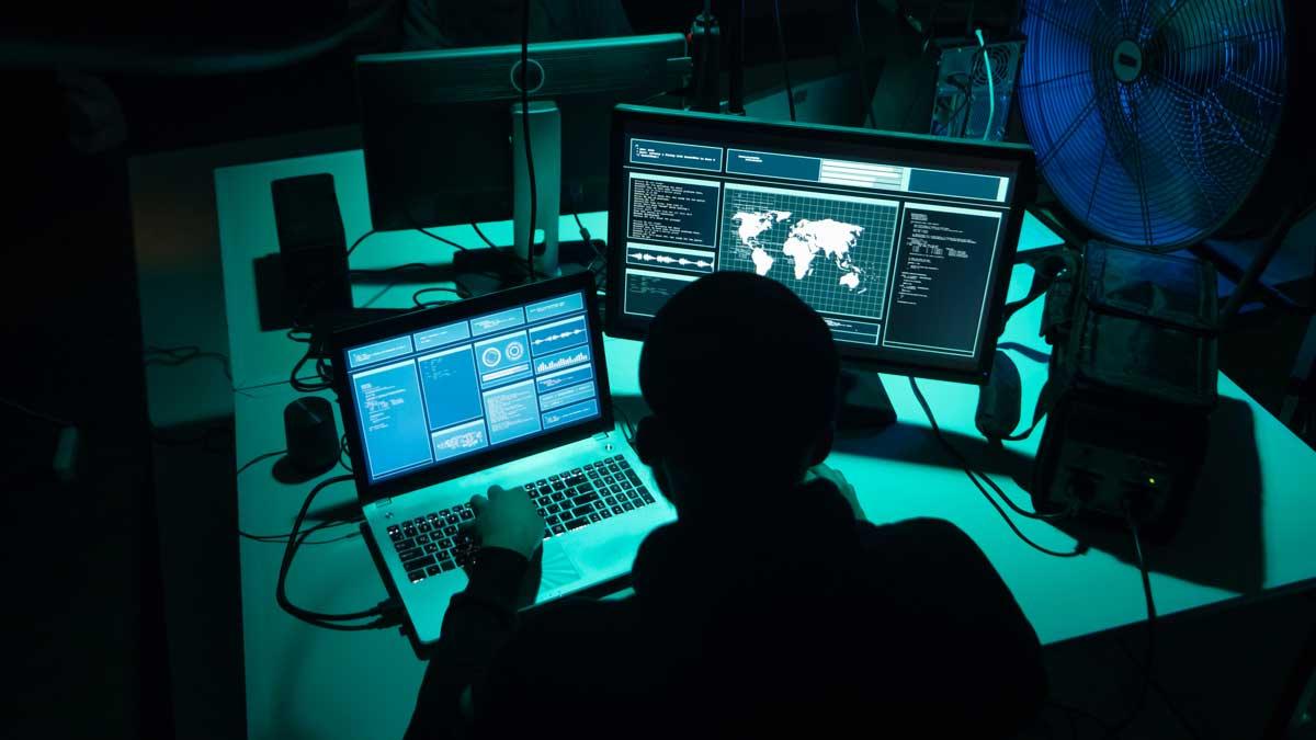 A hacker programming