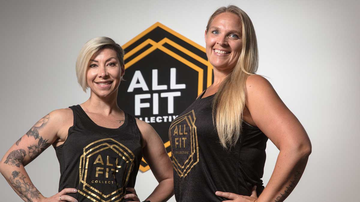 """Candace Williams and Crissy Mize, owners of All Fit Collective in Edmond (Photo: <a href=""""https://edmondbusiness.com/author/brent-fuchs/"""">Brent Fuchs</a>)"""