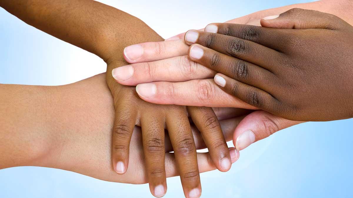 Multiethnic hands