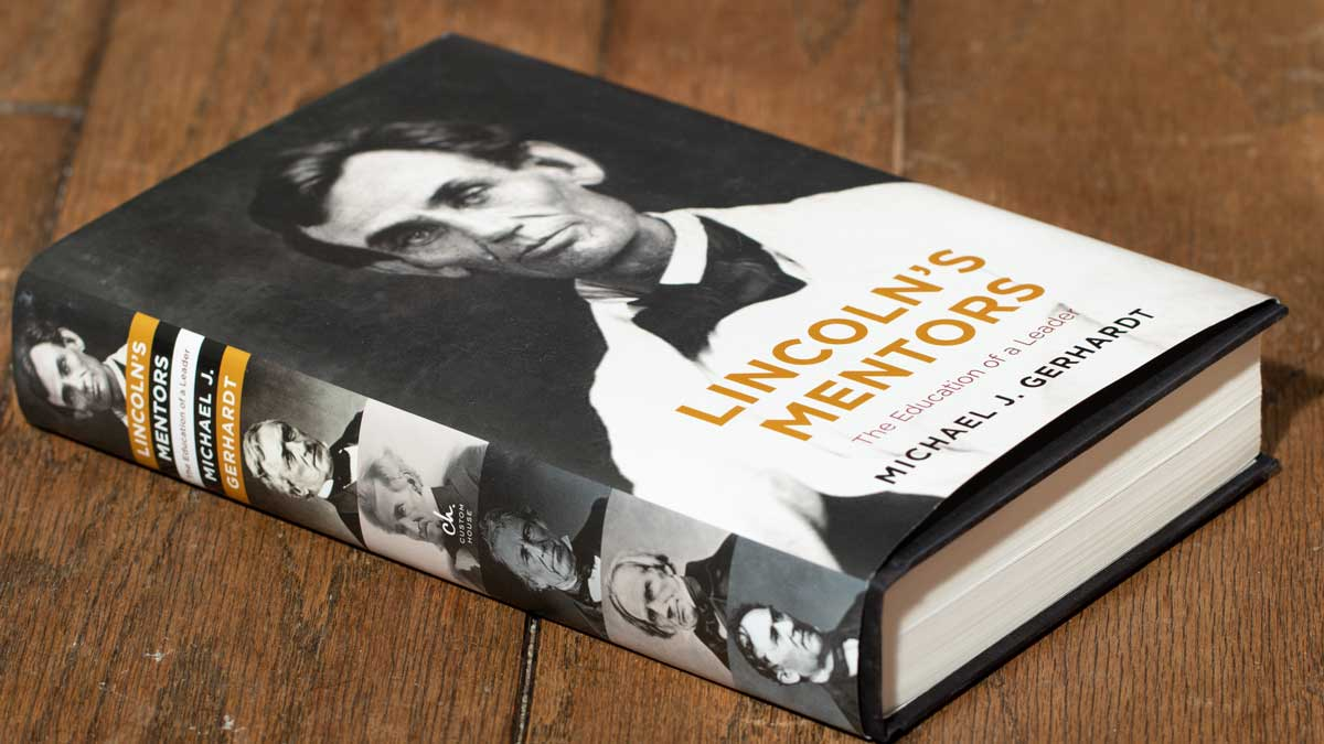 Lincoln's Mentors on wooden table