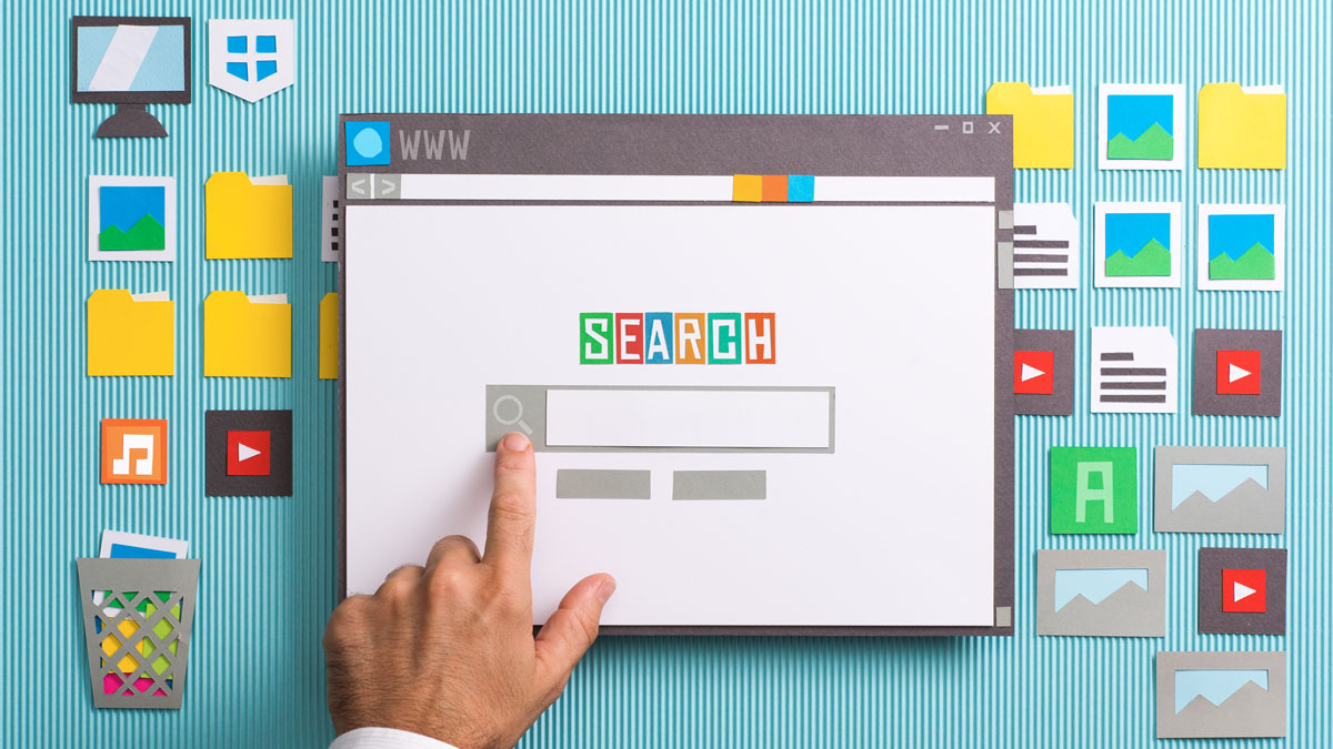 Person searching from desktop
