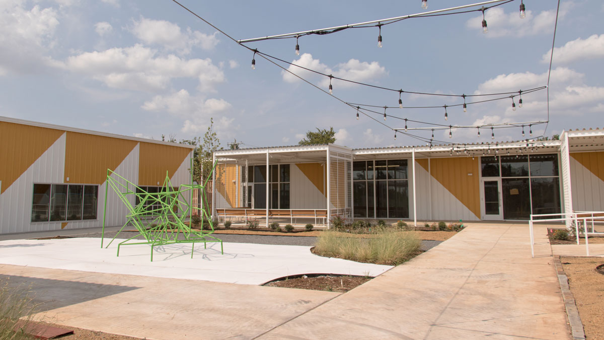 """The courtyard at The Icehouse Project (Photo: <a href=""""https://edmondbusiness.com/author/brent-fuchs/"""">Brent Fuchs</a>)"""