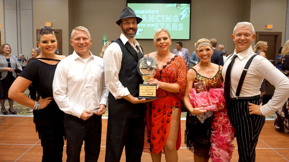 """The Winners of the 2021 Edmond Chamber Dancing with the Stars fundraiser (Photo: <a href=""""https://www.edmondchamber.com/"""">Edmond Chamber of Commerce</a>)"""